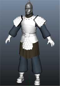 中国古战士3D模型