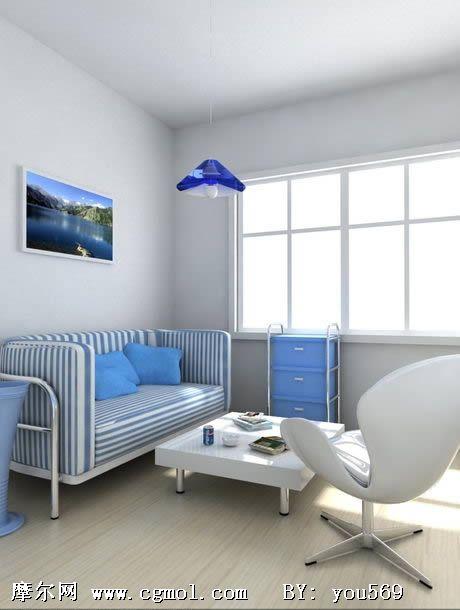 室内模型 家居装饰  关键词:会客室3d模型 作品描述:明亮简易的会客室