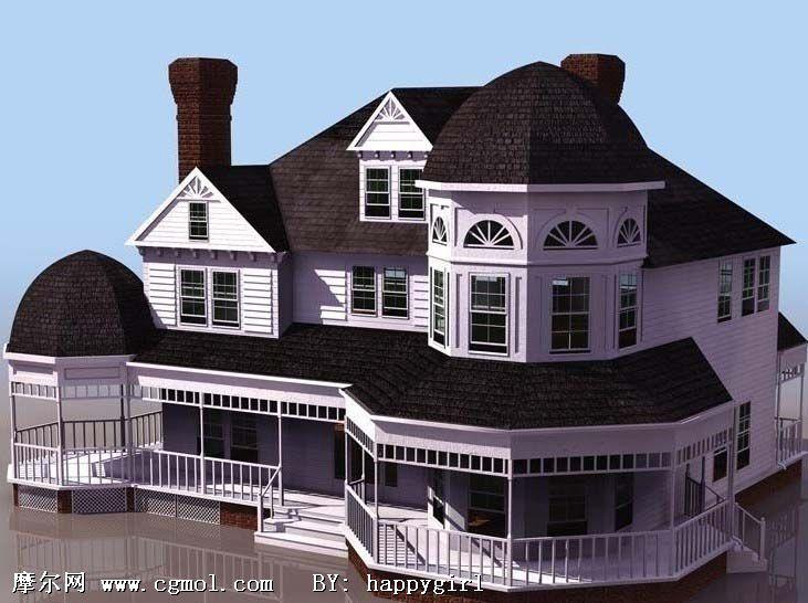 欧式别墅建筑图片
