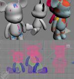 高清3D卡通玩偶模型
