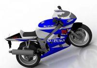 铃木越野摩托车3D模型