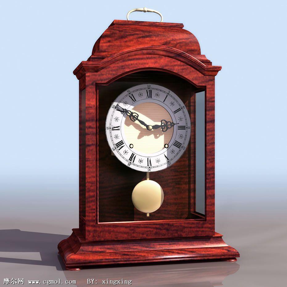 3d钟表模型,家用电器,电子电器