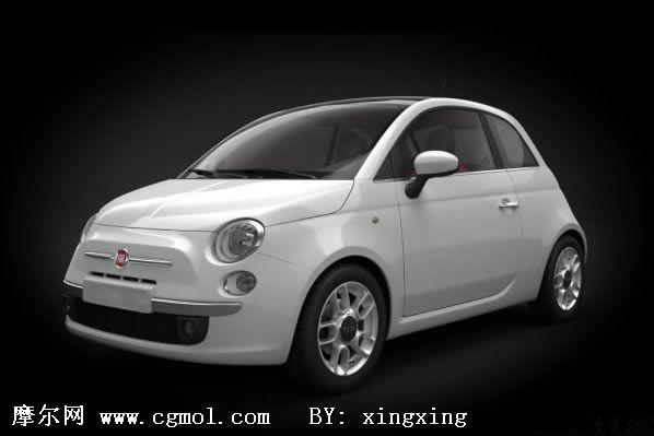 菲亚特500C汽车3D模型