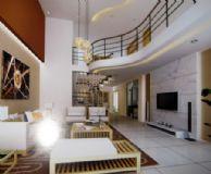 简洁高贵客厅3D模型