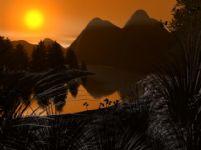 日落风景3D模型