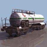 3D油罐车模型
