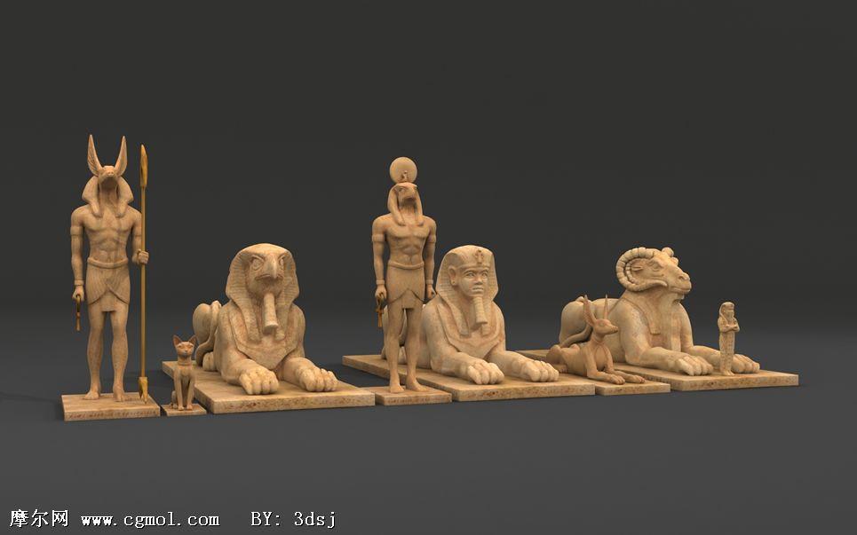 埃及神话人物3d模型