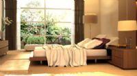 落地窗卧室3D模型