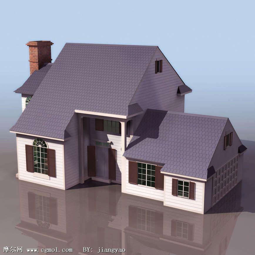欧式房屋建筑3d模型,欧式建筑