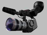 佳能XL1数码摄像机3D模型
