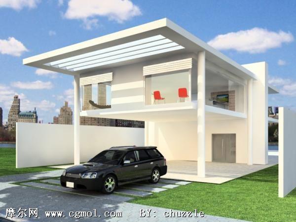 室外建筑3d模型,中式建筑