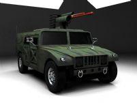 悍马装甲车3D模型