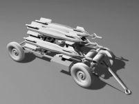 3D导弹发射装置模型