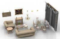 多套室内家具3D模型