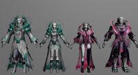 游戏角色朱雀套装3D模型