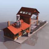 锯木厂3D模型