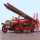 旧式伦敦消防车3D模型