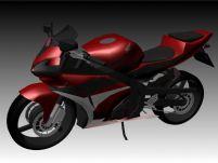 Honda摩托3D模型