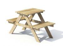 木质凳子3D模型