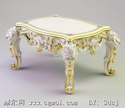 材质/贴图: 无 关键词:欧式桌子