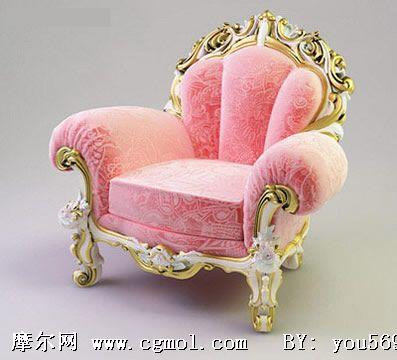 欧式椅子3d模型,室内家具