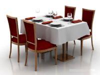 欧式餐厅桌椅3D模型