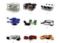 多款沙发桌椅3D模型