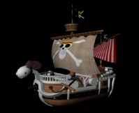 海贼王梅利号3D模型