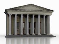 国外戏院建筑3D模型