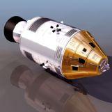 阿波罗(apollo)卫星3D模型