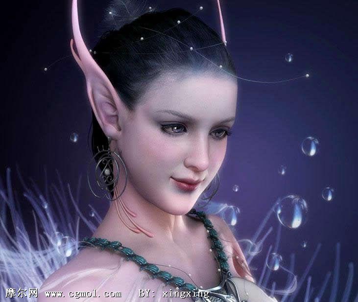 高精度美女3D模型