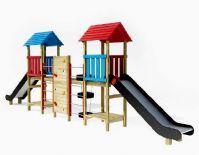 儿童乐园,滑滑梯,攀爬墙3D模型
