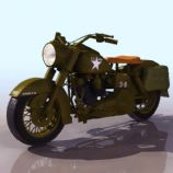 美军军用摩托车3D模型