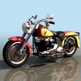 HDFAT摩托车3D模型