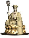 地藏菩萨唐僧雕塑3D模型