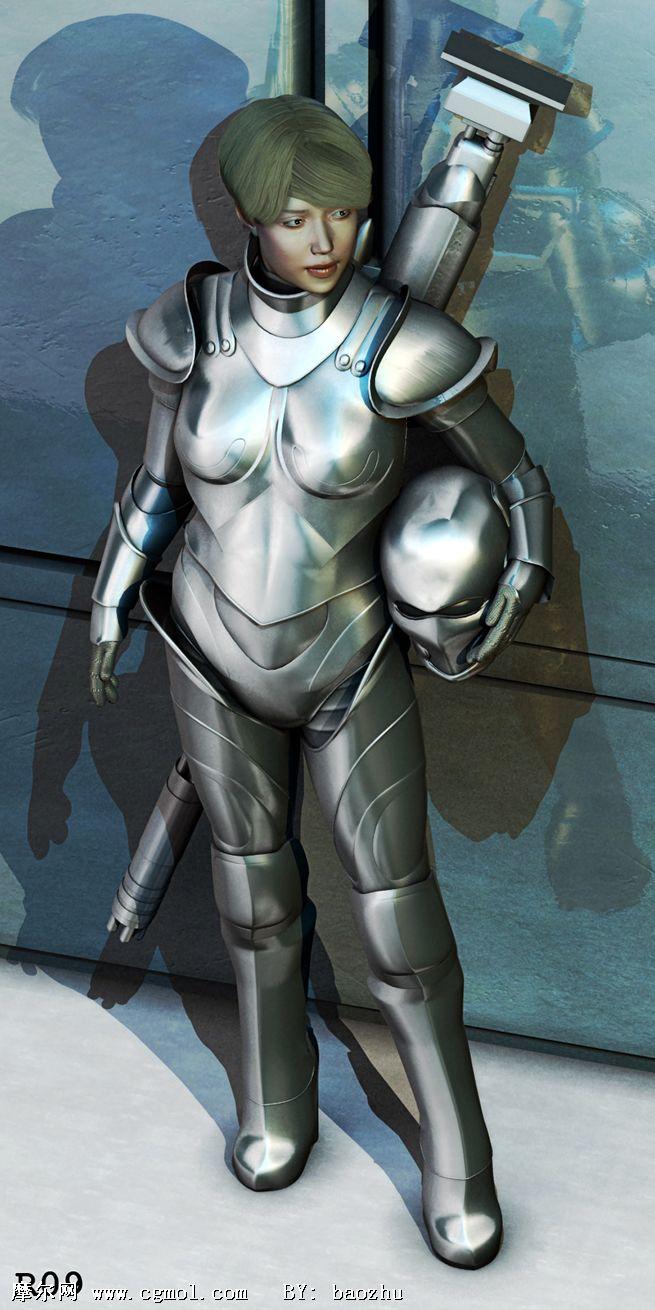女钢铁侠iron woman3d模型