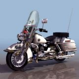 警用摩托车3D模型