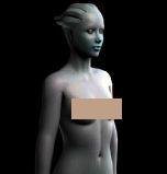 Asari Alien Girl 阿萨里外星女孩骨骼绑定3D模型