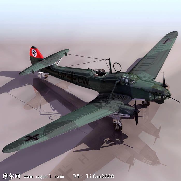 28m 材质/贴图: 有 关键词:德意志 战斗机 飞机 模型描述:德意志战斗