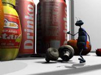 蚂蚁卡通角色3D模型