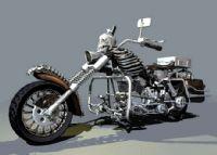 个性骷髅摩托3D模型