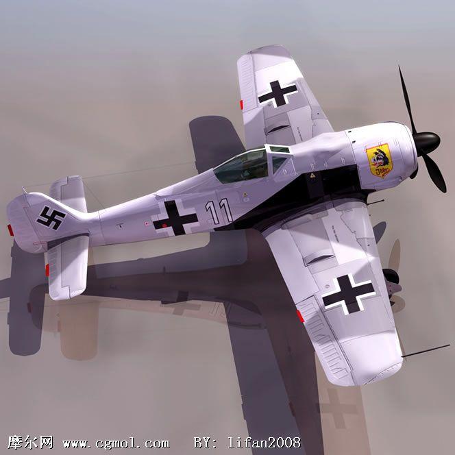 德意志战斗机 飞机3d模型