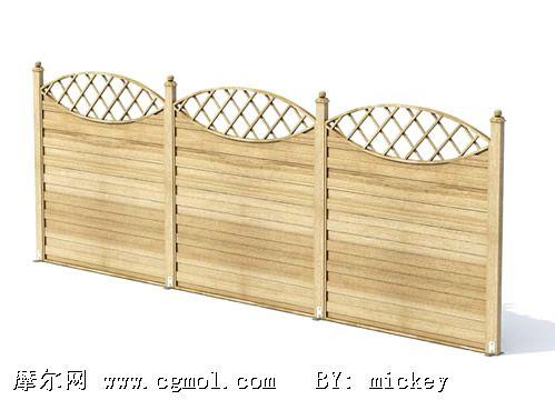 木门,栅栏3D模型
