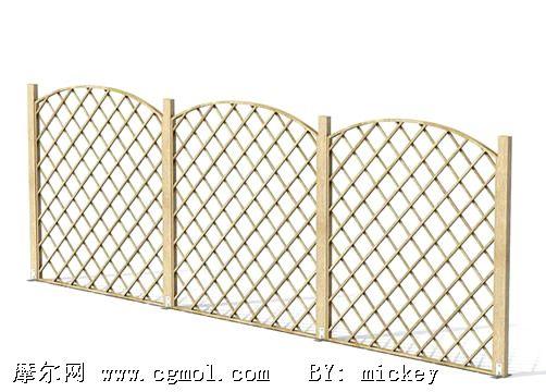 木栅栏3d模型