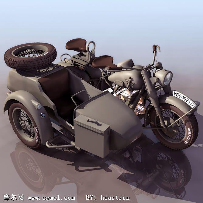 双人摩托3D模型