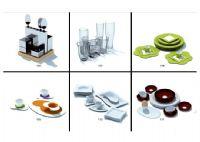 六款餐具3D模型