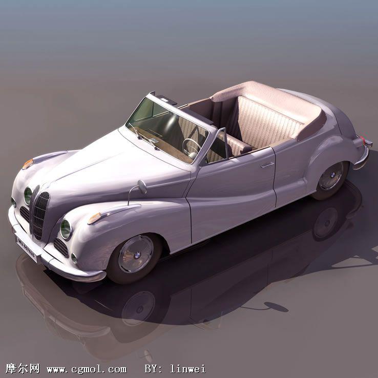 宝马汽车3d模型(低模)