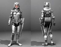 美女盔甲士兵3D模型