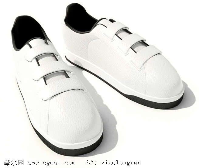 白色鞋子3d模型