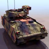 装甲坦克3D模型(低模)